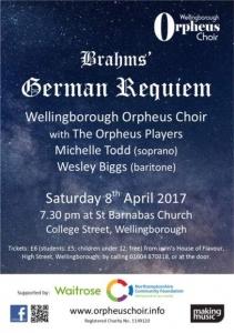 Wellingborough Orpheus Choir - Brahms' German Requiem 2017