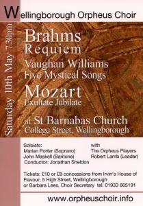 Wellingborough Orpheus Choir Brahms Requiem 2008