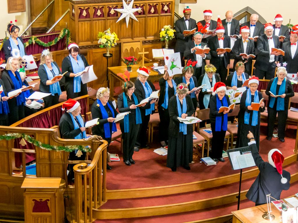 Wellingborough Orpheus Choir performing at United Reform Church Wellingborough - Christmas Concert 2016