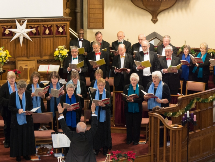 Wellingborough Orpheus Choir. Christmas 2016 at United Reform Church