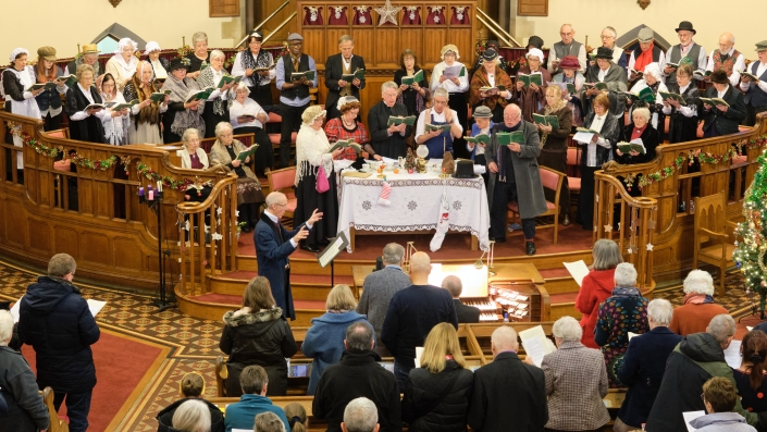 Wellingborough Orpheus Choir performing at United Reform Church Wellingborough - Victorian Christmas Concert 2019