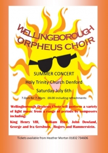 Summer Concert at Holy Trinity Church Denford 2019